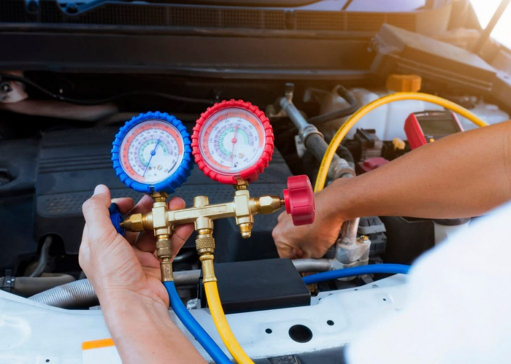 servis a plnenie autoklimatizácie